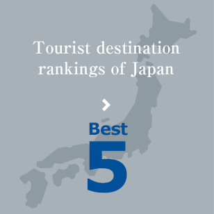 Tourist destination rankings of Japan Best5